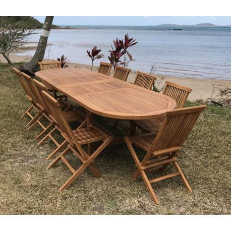 Table Garden extensible Ovale 210