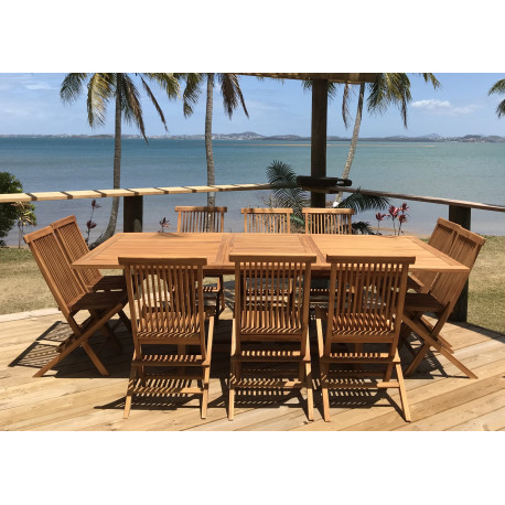 Table Exotica extensible rectangulaire 180