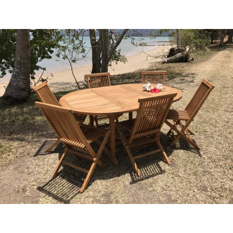 Table Exotica extensible ronde ovale 120