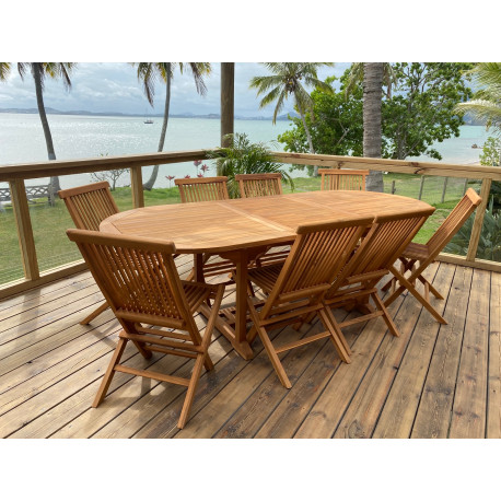 Table Exotica extensible ovale 180