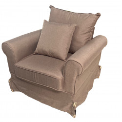 Fauteuil Auguste Taupe
