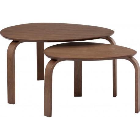 Set de 2 tables Sandra Cacao
