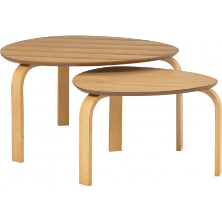 Set de 2 tables Sandra Naturel