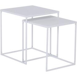 Set de 2 tables Darnell Blanc