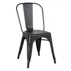 Chaise Métal Noir Mat