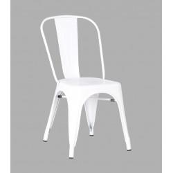 Chaise Métal Blanc Glossy
