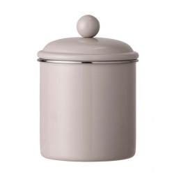 Pot avec couvercle marron 15
