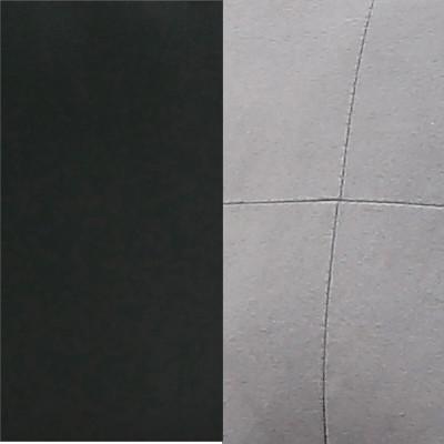 Bimatière PVC Noir / microfibre grise