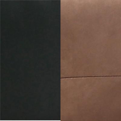 Bimatière PVC Noir / microfibre marron
